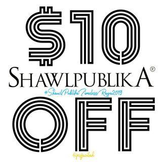 LABOUR DAY SALE $10 OFF Shawl Publika Timeless Raya 2019