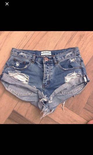 Authentic ONE TEASPOON BANDITS Denim Shorts