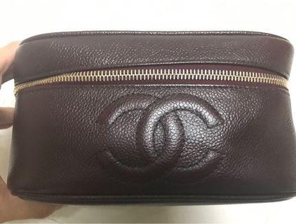 魚子醬vintage Chanel vanity box 化妝袋