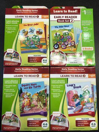 🚚 LEAPFROG EARLY READING SERIES - Learn to read level 1 to 4 (25 books)