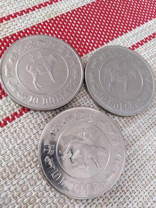 $10 Singapore old coins