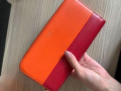 celine duo coloured zipped wallet