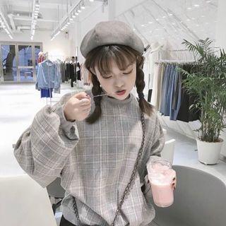 🚚 ✨新品現貨✨韓版格紋長袖大學t