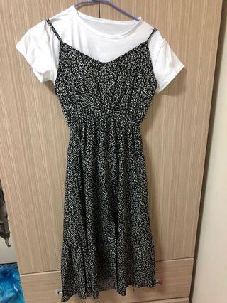 🚚 全新兩穿式 碎花長洋裝