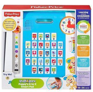 Fisher price laugh and learn puppy's A to Z smartpad.