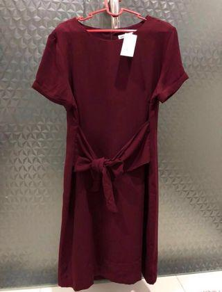 Maroon Dress Simple