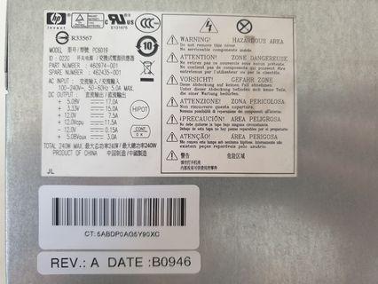 240W used HP SFF desktop power supply