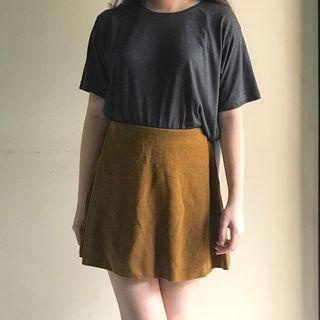 Zara brown mini skirt