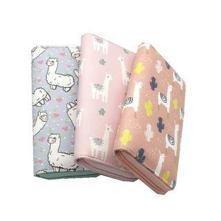 Long zip wallet pouch alpaca