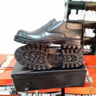 Sepatu SAFETY KING, Kulit Asli 100%, Murah