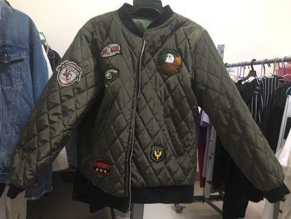 兩穿飛行夾克鋪棉外套