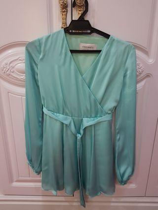 Baby blue blouse #GayaRaya