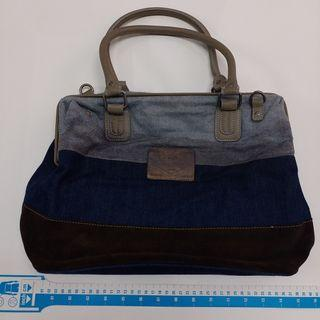 REPLAY denim/ leather handbag