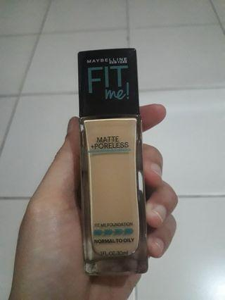 [FREE ONGKIR] Foundation maybelline fit me poreless