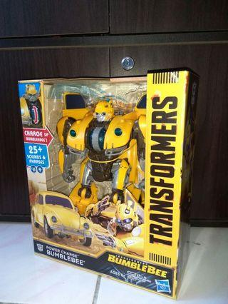 Transformers Bumblebee Movie Toys, Power Charge Bumblebee Action Figure - Lights and Sounds