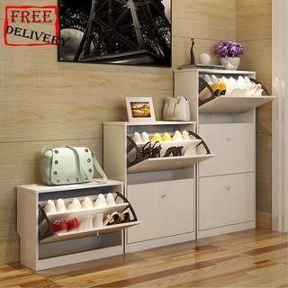 Shoe cabinet/Shoe rack/Receiving frame/Type C White