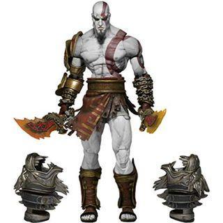 NECA 7吋 戰神3 奎托斯 克雷多斯 Kratos 戰神 奎爺 豪華版 雙頭雕 再版 盒裝 可動 人偶