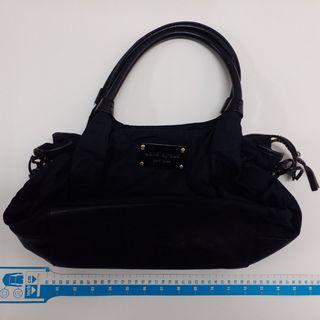 KATE SPADE black nylon/ leather handbag