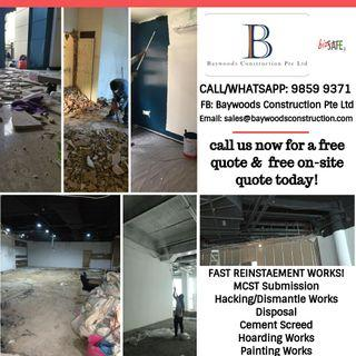 Reinstatement Services - Mall Shops Offices