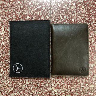 Mercedes Benz限量版紀念真皮簿套+記事簿