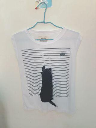 貓咪圖案無袖上衣