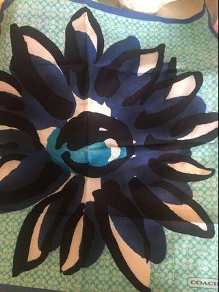 Coach blue scarf