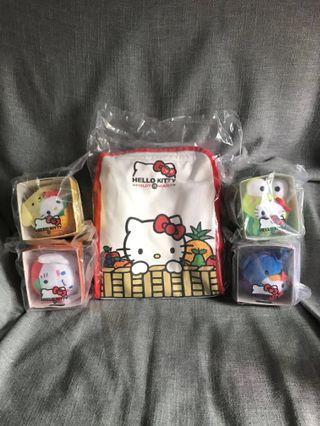 麥當奴 Hello Kitty 袋&公仔 #菠蘿 #紅蘋果 #西瓜 #黑加倫子
