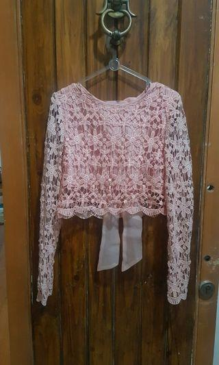 Lace top korean style