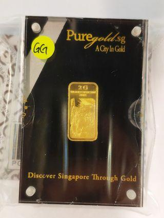 Gold bar 999(24k) / 2g Limited Edition