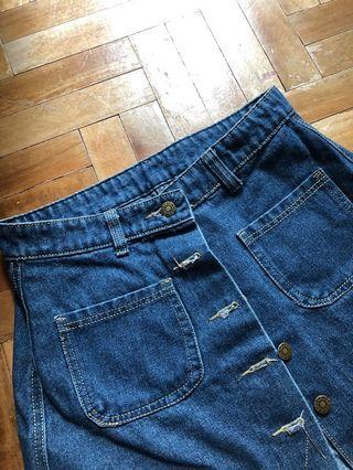 🚚 ButtonDown Denimn Skirt