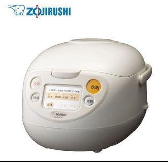 **限量3個**全新ZOJIRUSHI 象印 黑金剛厚釜 6人份微電腦炊飯電子鍋 NS-WXF10-WB。