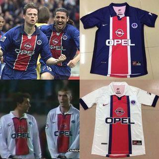 1998 Paris Saint Germain Home and Away Kit OPEL Retro Shirt