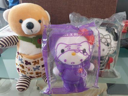 🚚 Soft Toys Hello kitty and Bear