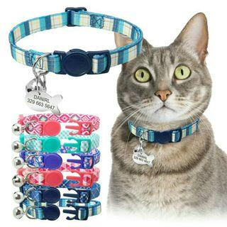 [Pre-Order] Quick Release Kitten Cat Collar Personalized Pet Puppy Cat Collars With Bell