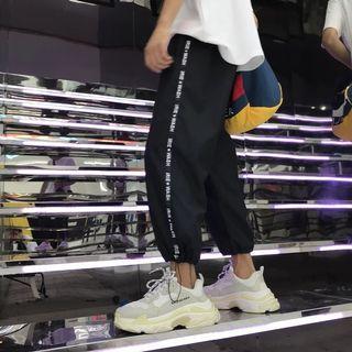 韓國復古古著棉質長褲 運動款男裝