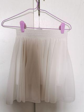 White Skirt with Lining