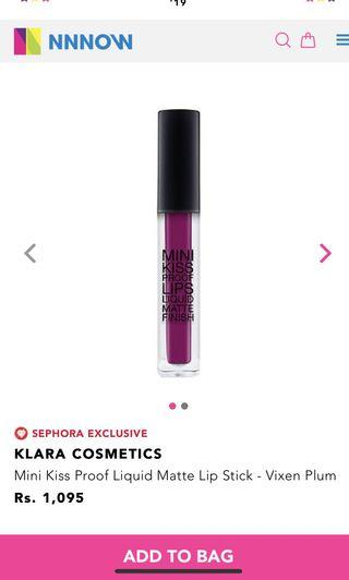 🚚 Mini Kiss Proof Liquid Matte Lip Stick - Vixen Plum