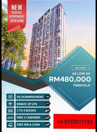 Rebate RM229K New Project in Setia Alam
