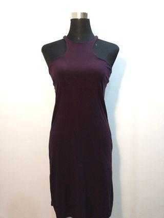 Purple dress with cut out back #OYOHOTEL