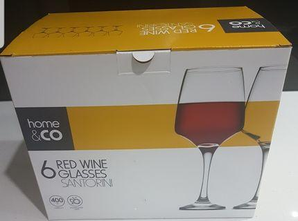 *NEW* Home & Co Red Wine Glasses