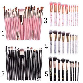 🚚 🌟INSTOCK FAST DELIVERY🌟 10 Piece Marble Make Up Brush Set 20 Piece Professional Make Up Brush Set