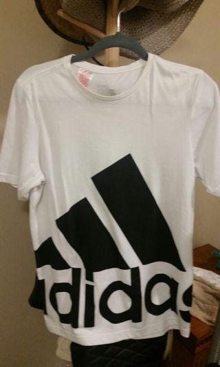 Adidas white tshirt small