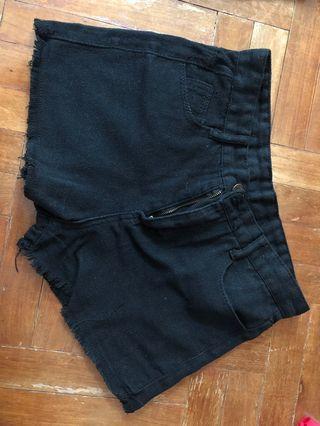 Black Highwaist Shorts