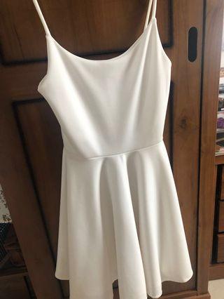 Free Ongkir Mini White Dress