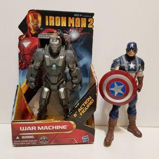 Hasbro War Machine Captain America Action Figure avengers 膠公仔 medicom hot toys