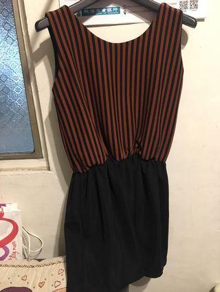 🚚 條紋拼接洋裝