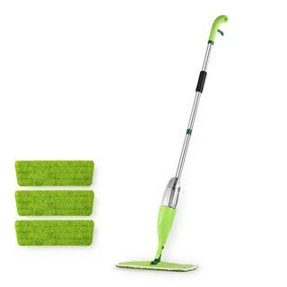 Spray mop with extra three mat