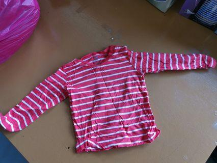 🚚 H&m red stripes Toddler boy top