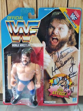 Hasbro WWF figures - Autograph Auto Signed Hacksaw Jim Duggan