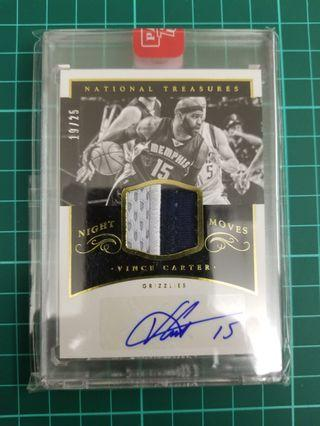 Encased National Treasures Night Moves Panini Vince Cater sticker auto /25